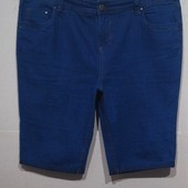 Большой размер.. Темно-синие шорты.. Стрейч.. р 56..Поб 60-69