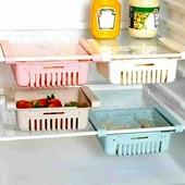 Раздвижной контейнер для холодильника в лоте 1шт белый
