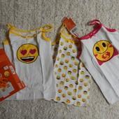 комплект: три майки на девочку от emoji
