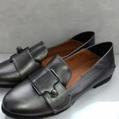 Удобные женские туфельки 37р=24.5см. Отличное качество.