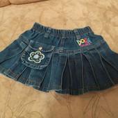 джинсовая юбка на 3-5 лет