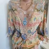 Красивая шифоновая Блуза-Туника Состояние новой Смотрите замеры