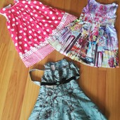 Платья красивые на принцессу 4-5лет.в лоте 3 шт.