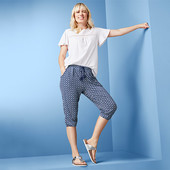 ☘ Трикотажні штани з орнаментом 3/4 довжини від Tchibo (Німеччина), розмір наш: 46-48 (40/42 євро)