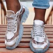 Крутейшие кроссовки эко кожа+ силикон