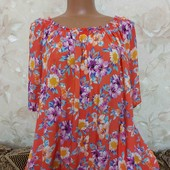 Блуза женская в цветочный принт George, размер 2хл