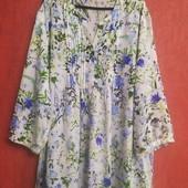 Очень классная блузка большого размера, цветочный принт