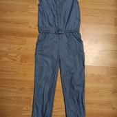 Ромпер из тонкой джинсовой ткани,рост 128 в идеале..