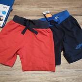 Германия! Летние шорты на мальчика 2 шт в наборе размер 86-92 см рост!