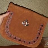 Класная сумочка под замш держит форму забираем