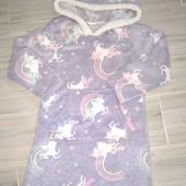 Плюшевая платье для девочки 5-6лет замеры на фото