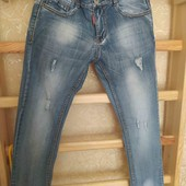 Летние джинсы на мальчика 12-13 лет