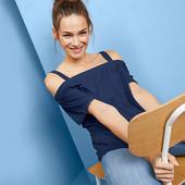 ☘ Красива, стильна футболка без плечей від Tchibo (Німеччина), р .: 42-46 (36/38 євро)
