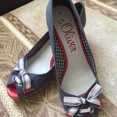 Неймовірні туфлі s. Oliver 39 розмір