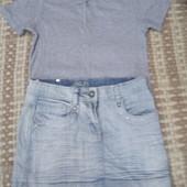 Футболка и джинс юбка для девочки