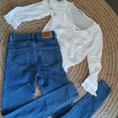 Джинсы скины Levis+ блуза Zara для девочки поростка