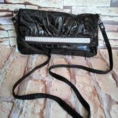 Женская сумка на 2 отделения с длинным ремешком