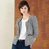 Фактурный пиджак от Tchibo, р.S