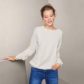 Хорошая качественная блузка с вышивкой в офисном стиле от Tchibo (германия) размер 44 евро=50-52