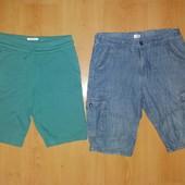 Отличное состояние! Суперудобные хлопковые шорты на 12-13 л и р 158-164 см!Лот 2 шт!
