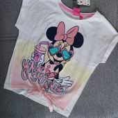 Улетная фирменная футболка Минни! Оригинал Дисней! Рост 116 на 5-6 лет, 100% хлопок!