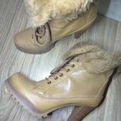 Мега стильные Кожаные ботиночки. 24.5 см