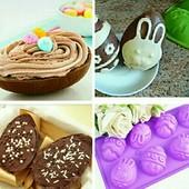 ❤️☀️❤️Форма силиконовая пасхальные яйца. Для выпечки, ☀️для конфет, ☀️для желе,☀️ для мыла.