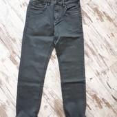 Брюки плотный коттон серый джинс. Зауженная модель р28 длина 99/72см