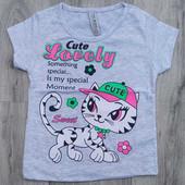 "Футболка trg kids ""cute lovely""на девочку, хлопок 1-2 года"