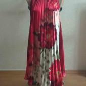 Летнее шёлковое платье свободного кроя