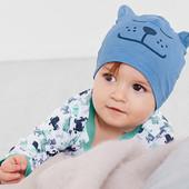 лот 2 шт .Нежная шапочка для малыша из био-хлопка от Tchibo (германия). размер 48-50