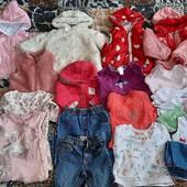 Огромный пакет классных вещей для девочки 3-12 месяцев