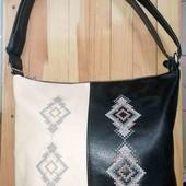 сумка еко кожа с вышивкой