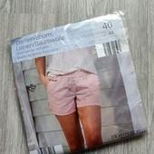 ❤️Blue Motion Германия❤️ЛЁН пудрово розовые шорты!! стильные, модные, комфортные евро 40