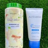 Ароматизированный тальк для тела и кремовый дезодорант-антиперспирант Oriflame