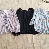 Три блузки одним лотом 36 размер
