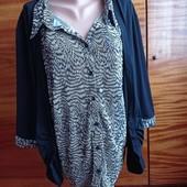 Блуза обманка на королевские формы (пог-73 см++++)