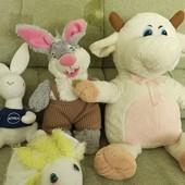 Все мягкие игрушки животные одним лотом.