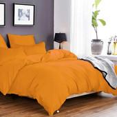 Однотонная оранжевая Наволочка 50*70 Отличное качество!
