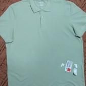 Новое мужское поло оливкового цвета, батальный размер, XXL,наш 56-58р.
