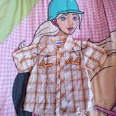 Стоп!! Фирменная удобная яркая натуральная красивая стильная рубашка