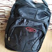 Мужской очень вместительный рюкзак. 3 отделения на молниях.