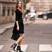 Плотное черное платье  Esmara евро S 36/38 +6