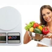 Кухонные весы до 10 кг+ батарейки в комплекте.функция тарирования