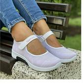 Туфельки на липучках! дышащие текстиль 25 и 24.5 cм