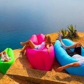 Мобильный надувной лежак шезлонг Ламзак.
