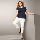 ☘ Якісні стрейч-джинси з вишивкою, довжина 7/8 від Tchibo (Німеччина), розмір наш: 46-48 (40 євро)