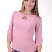 кофта блуза стрейч трикотаж. шикарное качество! с красивым украшением на шею