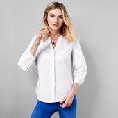 Белая блузка- рубашка с воздушным рукавом из био-хлопка Tchibo(германия) размер 46 евро=52