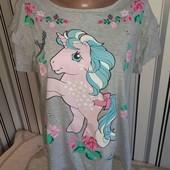 Футболка з поні My Little Pony ,р14-16(Пог -58)